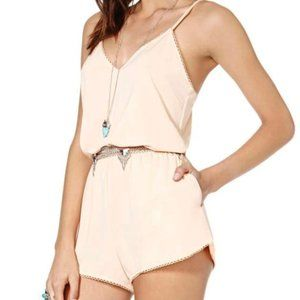 Nasty Gal Peaches and Dream Romper Boho Festival M